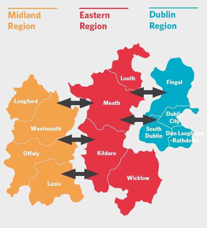 Map Of Ireland Midlands.Eastern Midland Regional Assembly Rses Eastern Midland