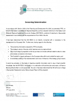Appropriate Assessment Determination Letter